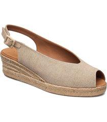 casbas_ecl sandalette med klack espadrilles beige unisa