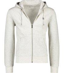 ralph lauren vest sweater grijs capuchon