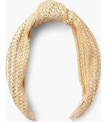 straw knot top headband, natural