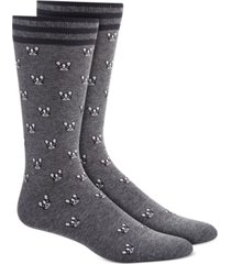 bar iii men's blue pug socks, created for macy's