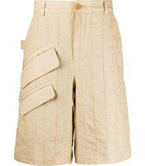 jacquemus raphia cargo shorts