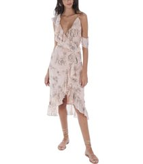 allison new york women's floral wrap dress