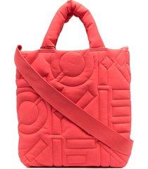 kenzo logo-stitched tote bag - orange