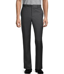 buttoned wool pants