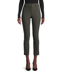 vince women's high-waisted cigarette pants - green - size 4