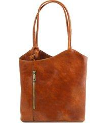 tuscany leather tl141497 patty - borsa donna in pelle convertibile a zaino miele