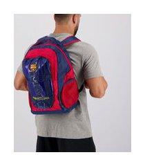 mochila barcelona escudo marinho e vermelha