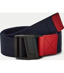 tommy hilfiger men's tommy webbed belt corporate - 110