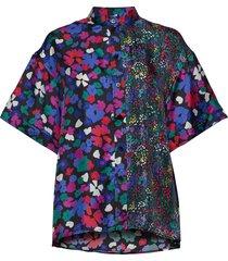 briella, 883 wildflowers silk blouses short-sleeved stine goya