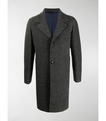 mp massimo piombo notch lapels single-breasted coat