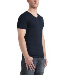 garage t-shirt v-neck bodyfit navy stretch ( art 0202)