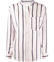 isabel marant étoile satchell striped shirt - pink