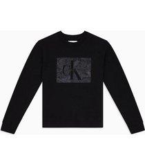 polerón monogram lace negro calvin klein