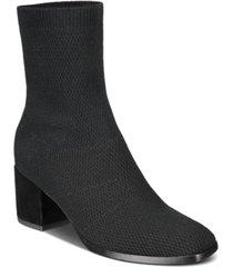 eileen fisher ohm stretch knit block-heel booties women's shoes