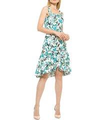 alexia admor women's ariana floral flounce dress - green multi - size 14