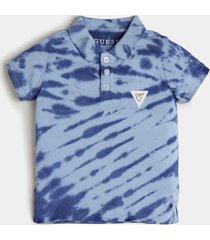 koszulka polo z efektem tie-dye