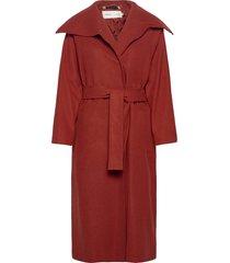 levannaiw slit coat wollen jas lange jas rood inwear
