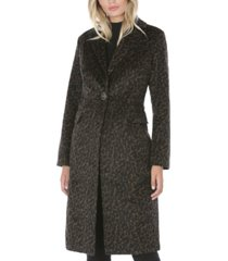 tahari leopard-print walker coat, created for macy's