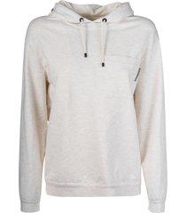 brunello cucinelli patched pocket hooded sweatshirt