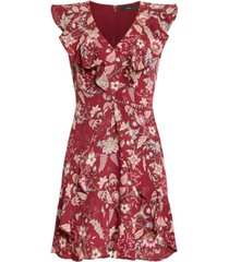 bcbgmaxazria pleated floral-print dress