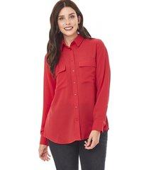 blusa camisera lisa mujer rojo corona