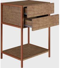 mesa de cabeceira vermont/est. cobre industrial artesano - bege - dafiti