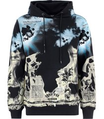 in hoc signo vinces clouds flames hoodie