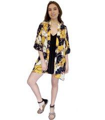 kimono sol amarillo geométrico natalia seguel