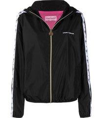 chiara ferragni black rain jacket
