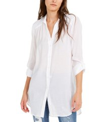 inc solid button-up tunic, created for macy's