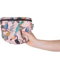 morral viajero plegable estampado pajaros citybags multicolor