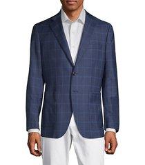 checkered notch lapel jacket