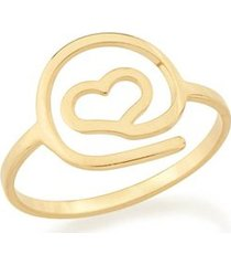 anel skinny ring simbolo arroba com formato de coração rommanel