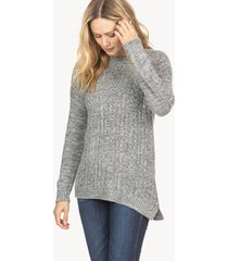 lilla p mixed cable pullover