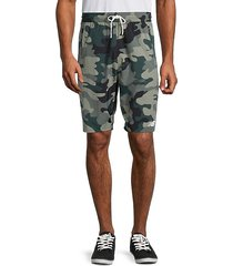 camo-print drawstring shorts