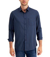 club room men's performance check shirt with pocket, created for macy's