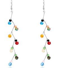 moda orecchini pendenti perline colorate 7 chakra reiki bilanciamento yoga gioielli donne ciondola gli orecchini