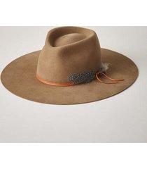 sundance catalog women's montana wide brim fedora hat in washed black small