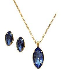 conjunto cariño dorado azul joyas montero