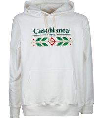 casablanca laurel embroidered hoodie