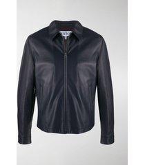 loewe zip-up leather jacket