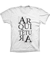camiseta lu geek manga curta arquitetura branco