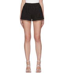 'britney' elastic waist patch pocket shorts