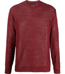 falke crew neck slim-fit sweater - red