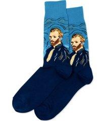 hot sox men's van gogh self-portrait crew socks