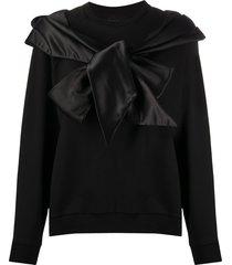 simone rocha oversize bow sweatshirt - black