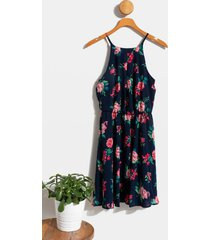 andy printed flawless dress - navy