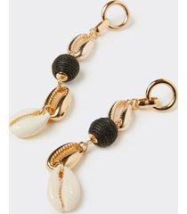 motivi orecchini pendenti con conchiglie donna giallo