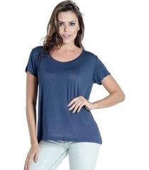 blusa t-shirt frente acetinada douglas harris m