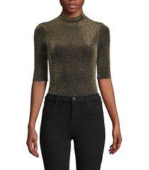 glitter mockneck bodysuit